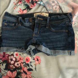 Dark hollister shorts size 0